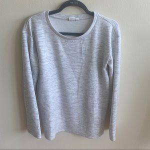 GAP Grey White Oversized Sweater Sz XS